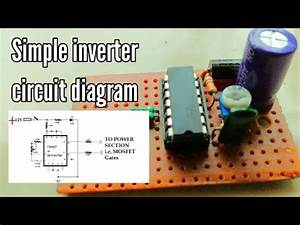 Simple Inverter Circuit Diagram 12v To 220v