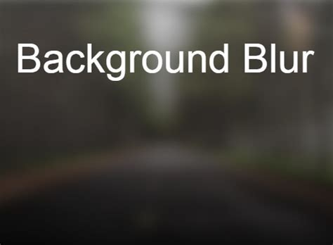 Blur Background Css Jquery Plugin For Creating Blurred Image Backgrounds