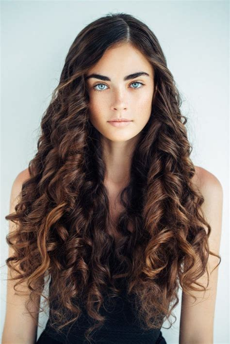 curly hairstyles  long hair  kinds  curls