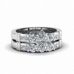 marquise cut channel bar set diamond wedding ring sets in With white gold diamond wedding ring sets