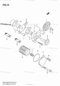 Suzuki Motorcycle 2007 Oem Parts Diagram For Oil Pump