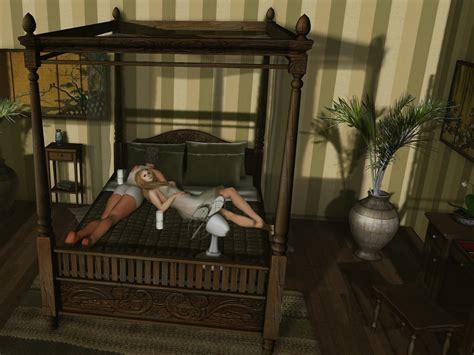 dutchie teak colonial canopy bed hot  romantic