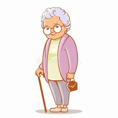 Grandma Grandmother Clipart Drawing Grootmoeder Lady Woman
