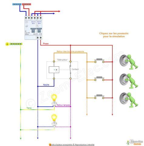 schema telerupteur  fils esquemas electricos  electronica