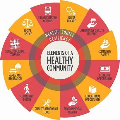 Health Wheel Community Elements Resiliency Healthy Vitalyst