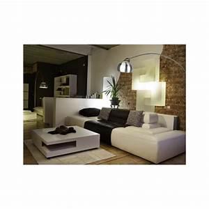 Grand Lampadaire Arc Design Socle Marbre Noir Sur Lampe Avenue