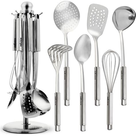 miusco premium stainless steel cooking utensil set