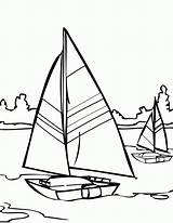 Coloring Pages Sailboat Water Sailing Printable Sail Jesus Walks Adult Template Colouring Boat Ship Walking Coloringhome sketch template