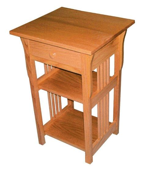 Amish End Tables Amish Furniture Amish Prairie Mission Phone Stand End Table