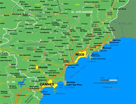 nice france area map  provence