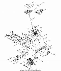 Mtd 14ar807p131  2001  Parts Diagram For Axle  U0026 Wheels
