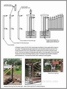 Diy Gate Column Internal Skeleton Diagram