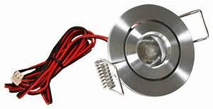 LED Mini Swivel Puck Light, Satin Aluminum, 1 25 Watts