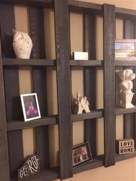diy pallet wood shelf display unit pallet furniture plans