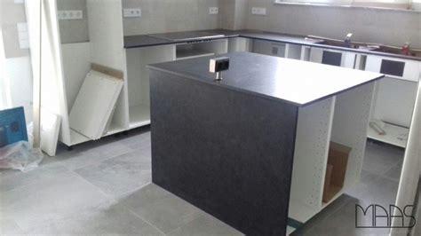 Bedburg Ikea Küche Mit Granit Arbeitsplatten Alexander Black