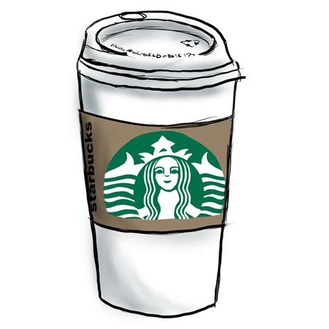 Coffee starbucks cappuccino tea espresso, covered with starbucks cup, white and black starbucks tumbler illustration png clipart. Starbucks Cup Clipart - Clipart Suggest