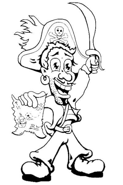 immagini pirati per bambini da stare disegno di pirata da colorare per bambini