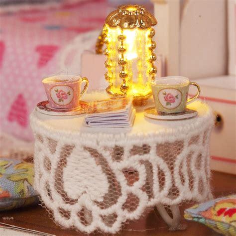 Kits Diy Wood Dollhouse Miniature With Furniture Doll