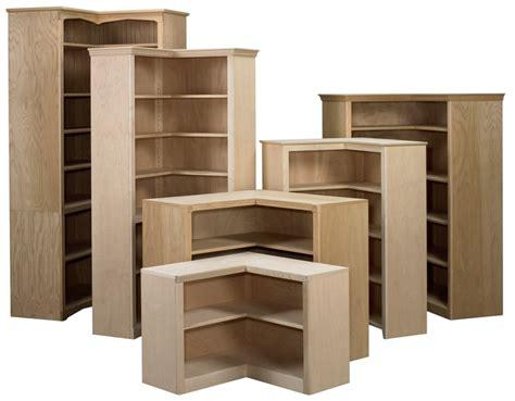 Corner Bookcase  Stark Wood Unfinished Furniture Stark