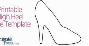 printable high heel shoe template printable treatscom With high heel template for cards