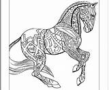 Coloring Horse Pages Hard Animal Horses Zentangle Colouring Printable Sheets Adult Animals Books Getcolorings Draft Getdrawings Uploaded User sketch template