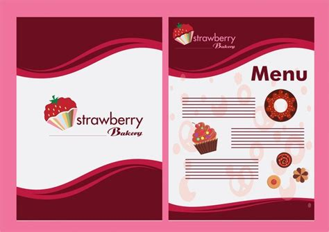 Bakery Menu Design With Strawberry On Red Background Free Business Cards In Black Best Dallas Without Logo Artist Paper With Gold Writing Blackburn Leather Card Holder Amazon Wirecutter