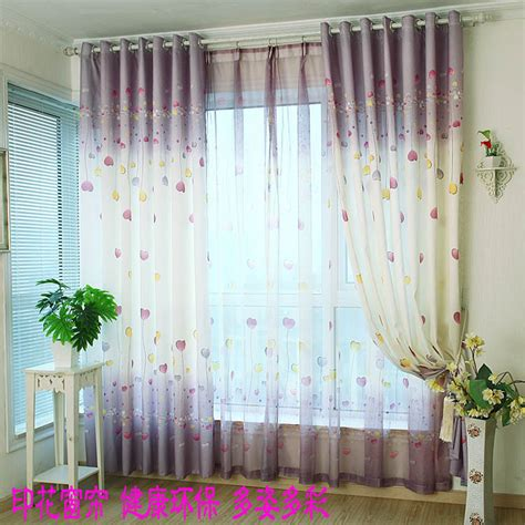 cheap different modern pastoral curtain for window