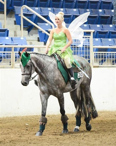 tinker bell riding  horse dressed  peter pan horses