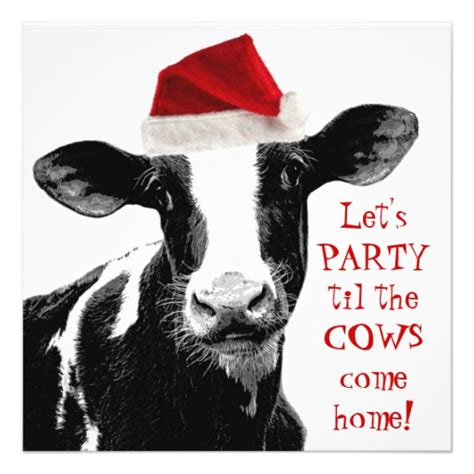 dairy farm staff christmas party 5 25x5 25 square paper