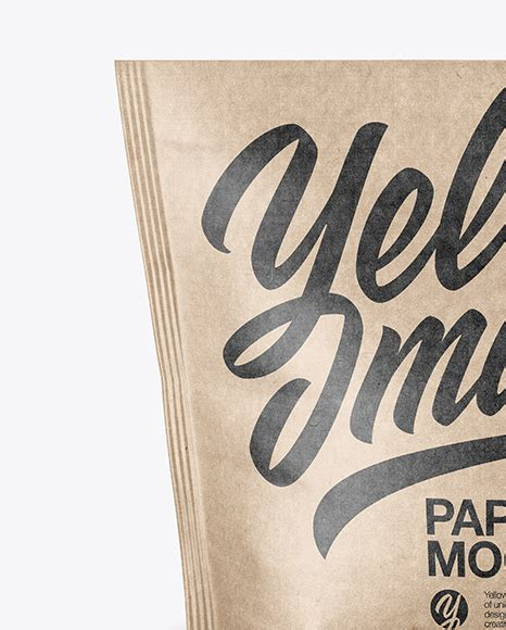 Apply your design ideas on this mockup of a kraft paper stand up pouch. Kraft Paper Stand-up Pouch Mockup in Pouch Mockups on ...