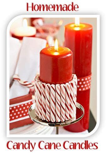 homemade christmas decorations candy cane candles