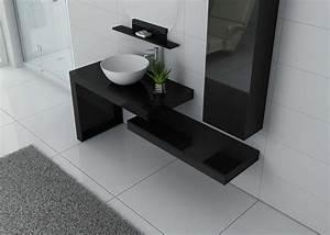 Meuble Simple Vasque : meuble salle de bain ref monza noir ~ Teatrodelosmanantiales.com Idées de Décoration