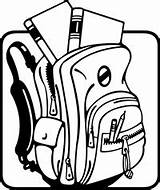 Backpack Clipart Drawing Clipartmag sketch template