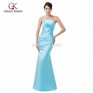 2016 sky blue bridesmaid dresses long grace karin With sky blue dresses for a wedding