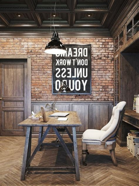 bureau original design id 233 es de d 233 coration d un bureau style industriel archzine fr