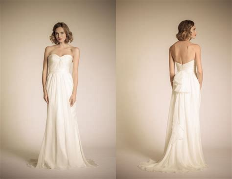 Preppy Strapless Wedding Gowns