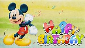 Happy Birthday Mickey Mouse : happy birthday song mickey mouse songs for kids babies toddlers nursery rhyme youtube ~ A.2002-acura-tl-radio.info Haus und Dekorationen