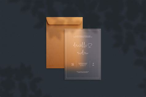 Halloween greeting card free mockup to showcase your artwork in a photorealistic style. Translucent Invitation Card with Envelope Mockup | Mockup ...