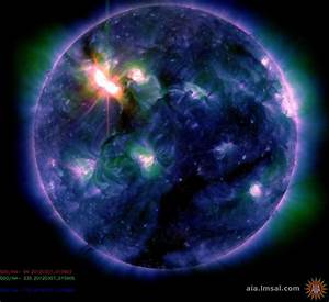 CME will likely hit Earth's magnetic field in a day or so ...