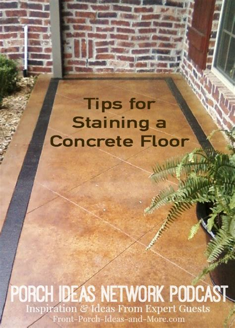 podcast 19 tips for staining a concrete floor