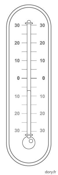 termometre cuisine dessin à imprimer un thermomètre à mercure dory fr