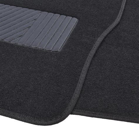 floor mats quality deluxe 4 piece high quality thick plush auto carpeted floor mats black ebay