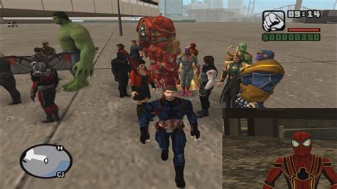 gta san andreas avengers infinity war skins youtube