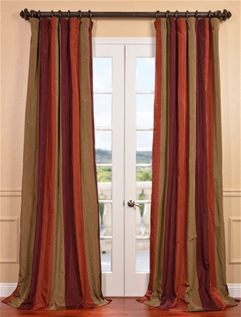 great savings on striped faux silk taffeta curtains