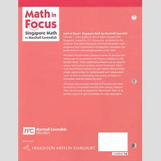 Math In Focus Course 1 Grade 6 Extra Practice A  Additional Photo (inside Page