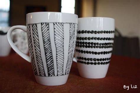 idee diy des mugs personnalises peinture sur ceramique