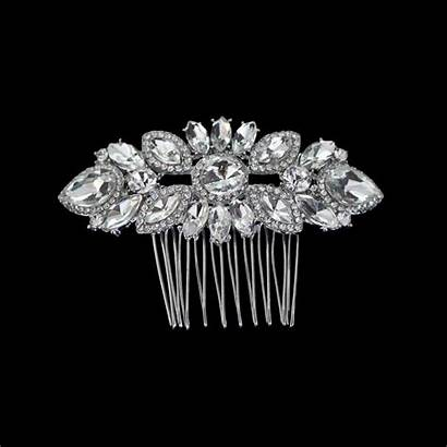 Jeweled Hair Bridal Comb Stylish