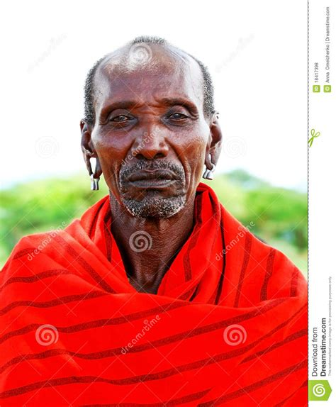 Portrait Of An African Chief Warrior Editorial Stock Photo ...