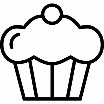 Icon Cupcake Muffin Icons Bakery Svg Dessert