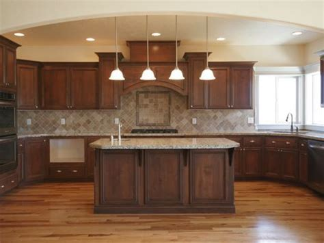 maple kitchen islands wood floor cabinets lighter or brown counter